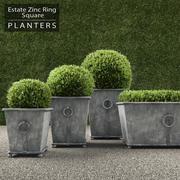 RH Square Ring Planters 3d model