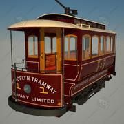 역사적인 트램 3d model