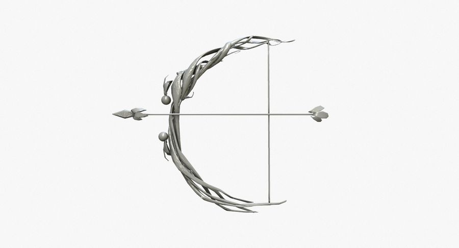 Fantasy Weapon - Bow royalty-free 3d model - Preview no. 8