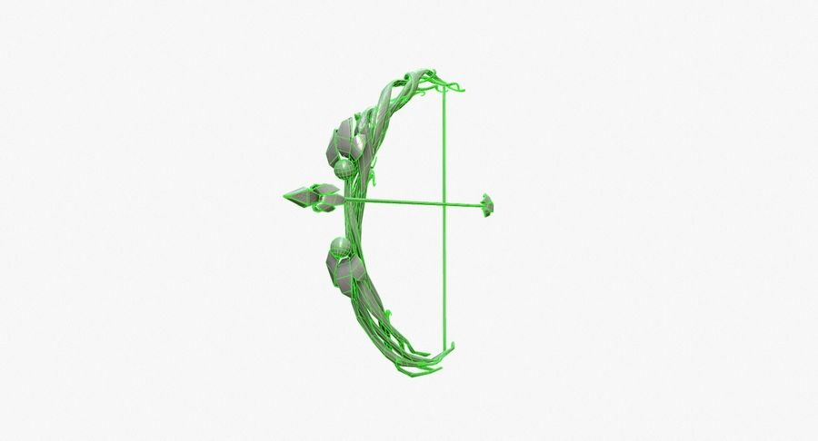 Fantasy Weapon - Bow royalty-free 3d model - Preview no. 16