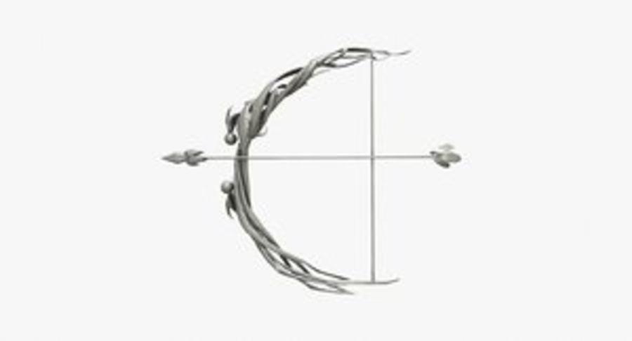 Фэнтезийное оружие - Лук royalty-free 3d model - Preview no. 1