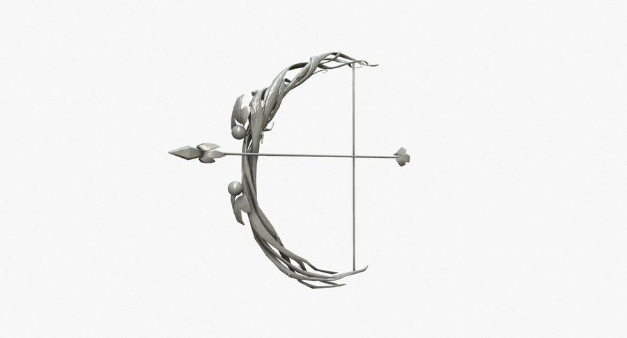 Fantasy Weapon - Bow royalty-free 3d model - Preview no. 7
