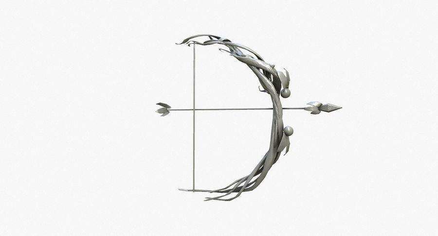 Fantasy Weapon - Bow royalty-free 3d model - Preview no. 5