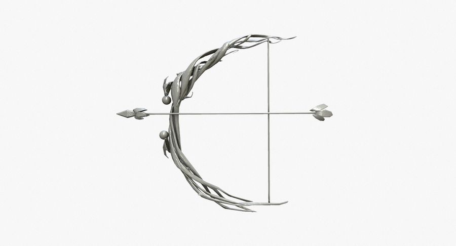 Fantasy Weapon - Bow royalty-free 3d model - Preview no. 1
