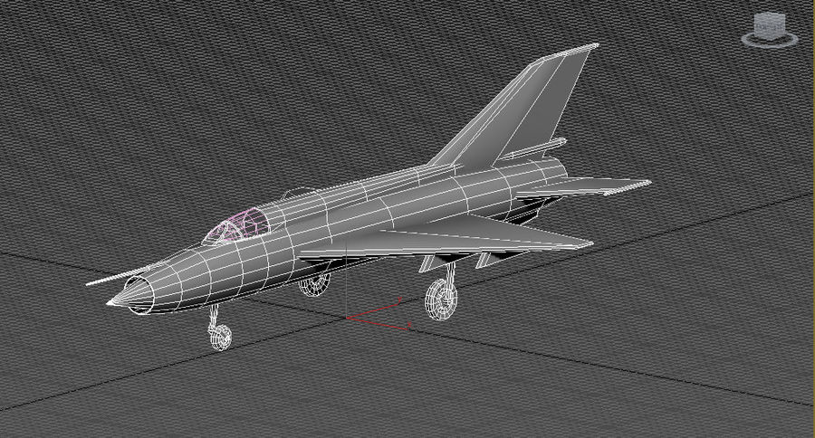 Mig 21 Skin 2 royalty-free 3d model - Preview no. 3