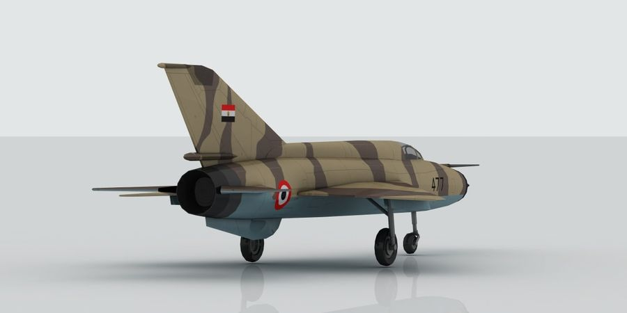 Mig 21 Skin 2 royalty-free 3d model - Preview no. 6
