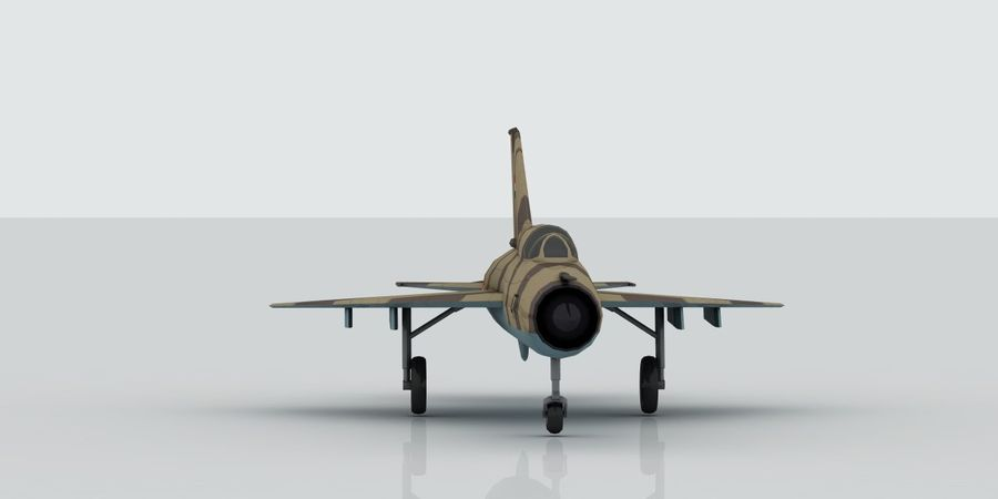 Mig 21 Skin 2 royalty-free 3d model - Preview no. 2