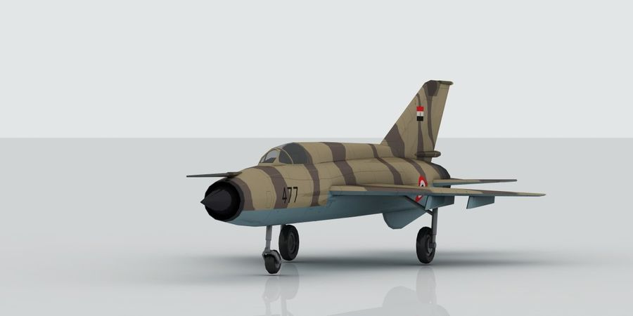 Mig 21 Skin 2 royalty-free 3d model - Preview no. 1