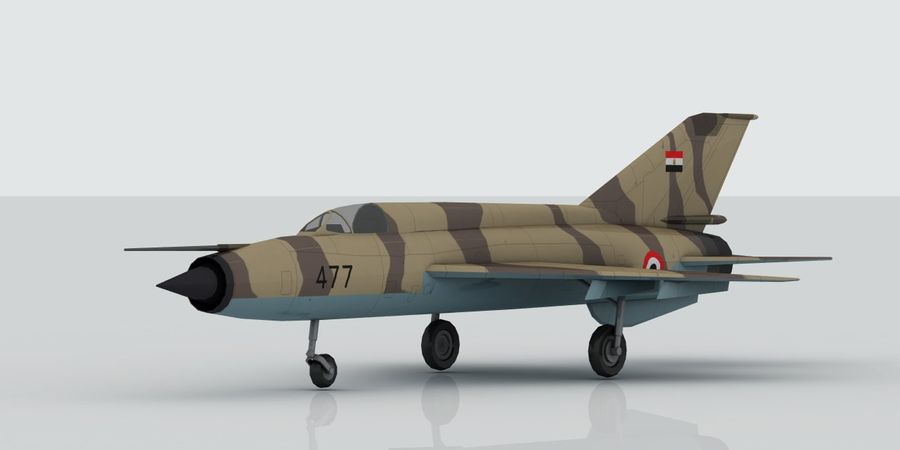 Mig 21 Skin 2 royalty-free 3d model - Preview no. 8