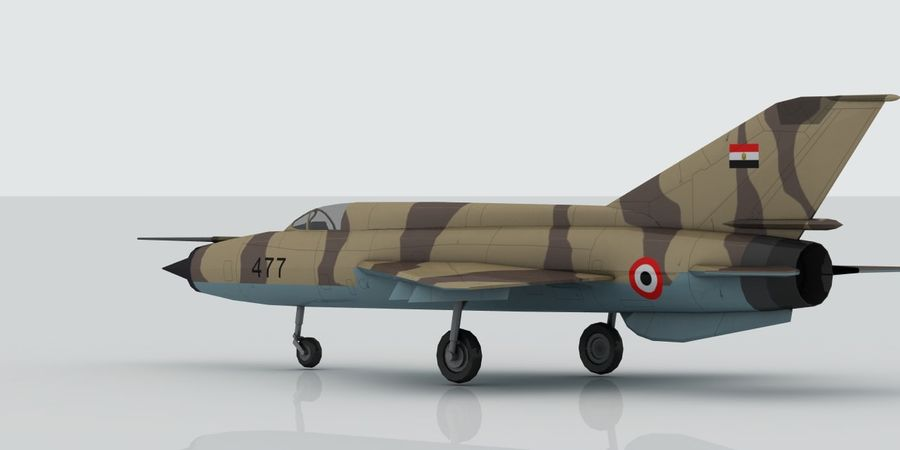 Mig 21 Skin 2 royalty-free 3d model - Preview no. 7