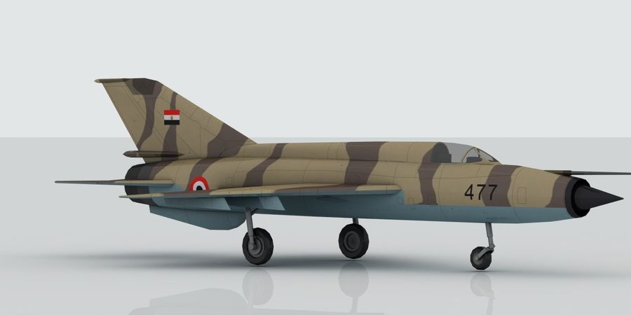 Mig 21 Skin 2 royalty-free 3d model - Preview no. 4