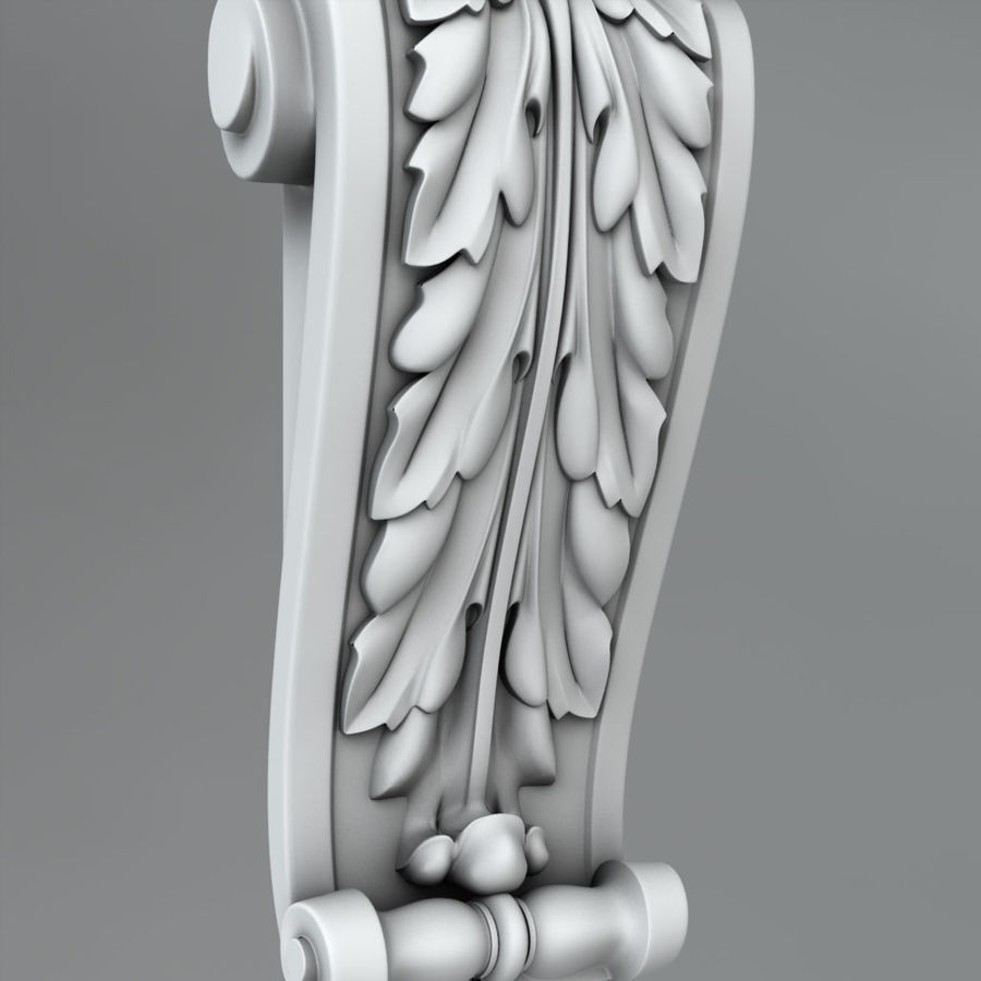Corbels 65 royalty-free 3d model - Preview no. 3