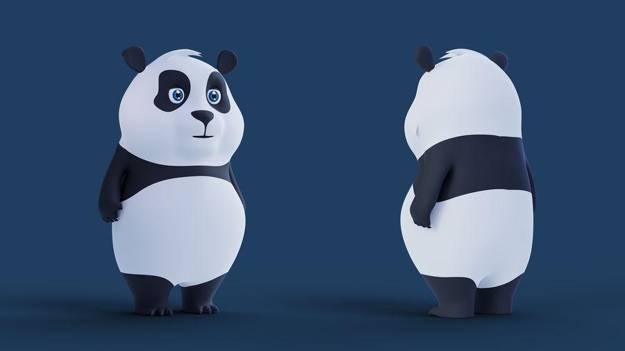 Low Poly Panda royalty-free 3d model - Preview no. 5