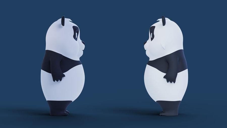 Low Poly Panda royalty-free 3d model - Preview no. 7