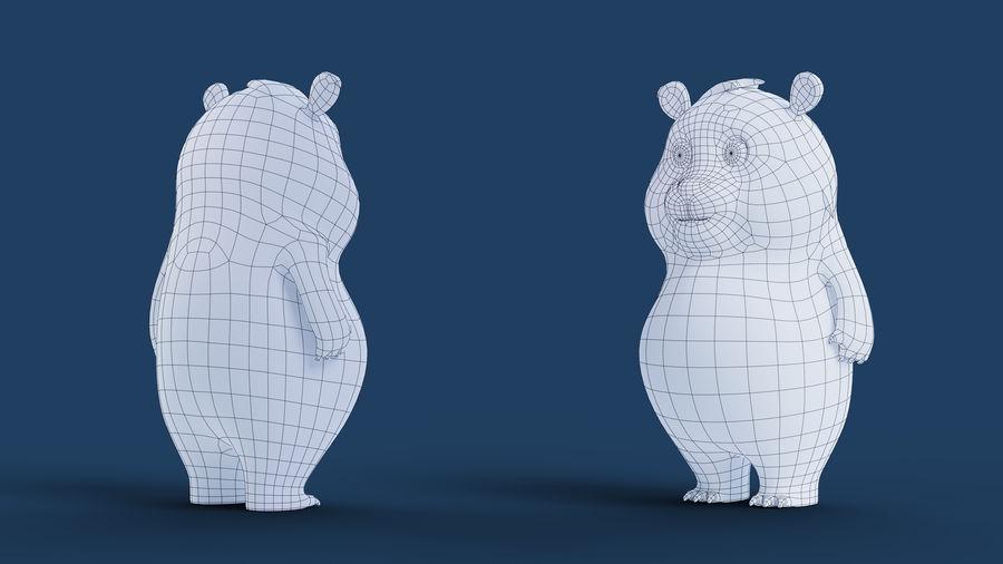 Low Poly Panda royalty-free 3d model - Preview no. 14