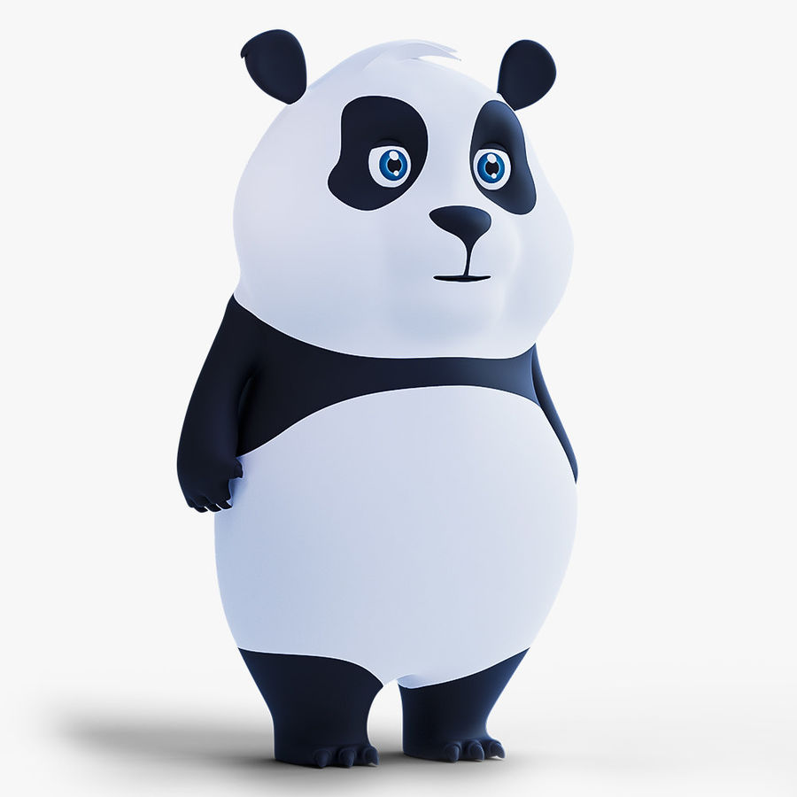 Low Poly Panda royalty-free 3d model - Preview no. 1