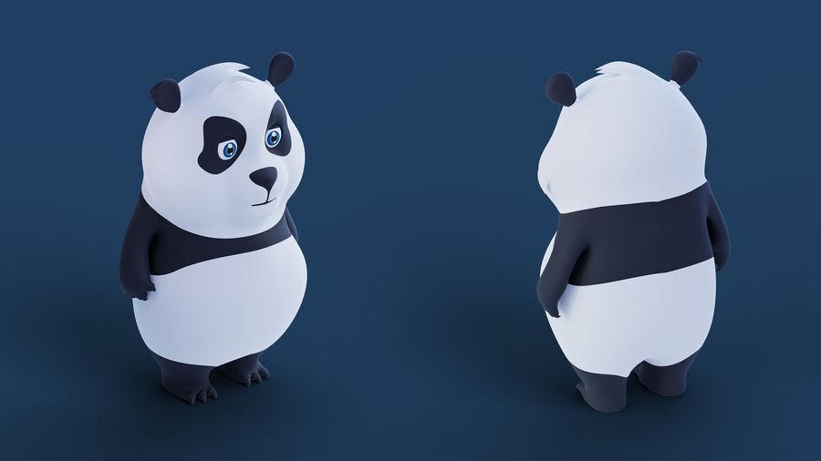 Low Poly Panda royalty-free 3d model - Preview no. 4