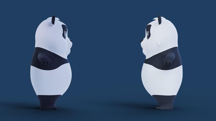 Low Poly Panda royalty-free 3d model - Preview no. 9