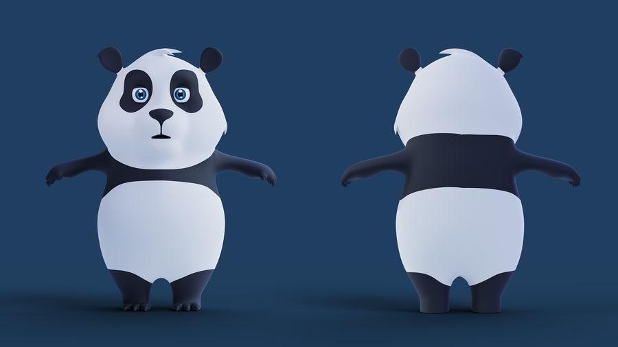 Low Poly Panda royalty-free 3d model - Preview no. 8