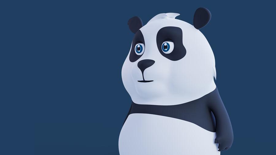 Low Poly Panda royalty-free 3d model - Preview no. 11