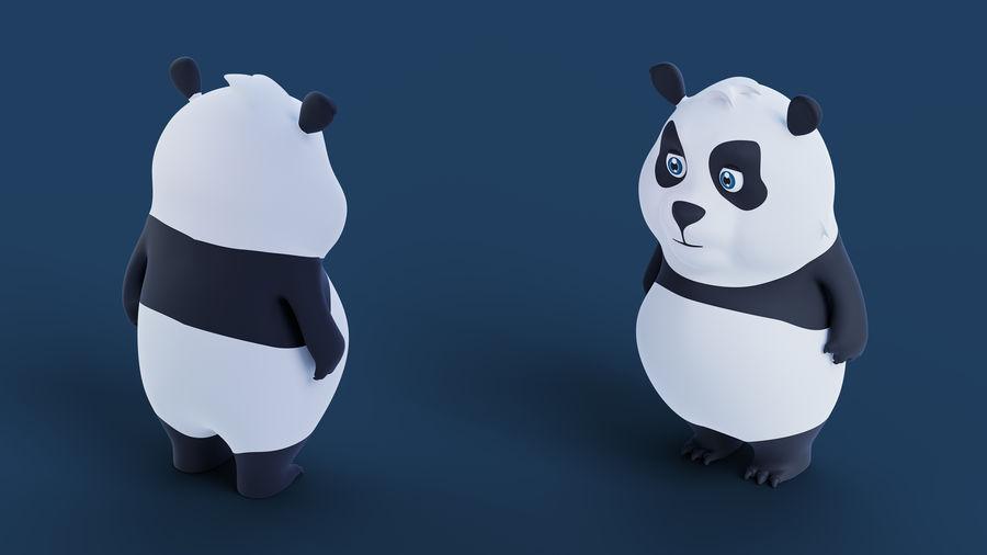 Low Poly Panda royalty-free 3d model - Preview no. 3
