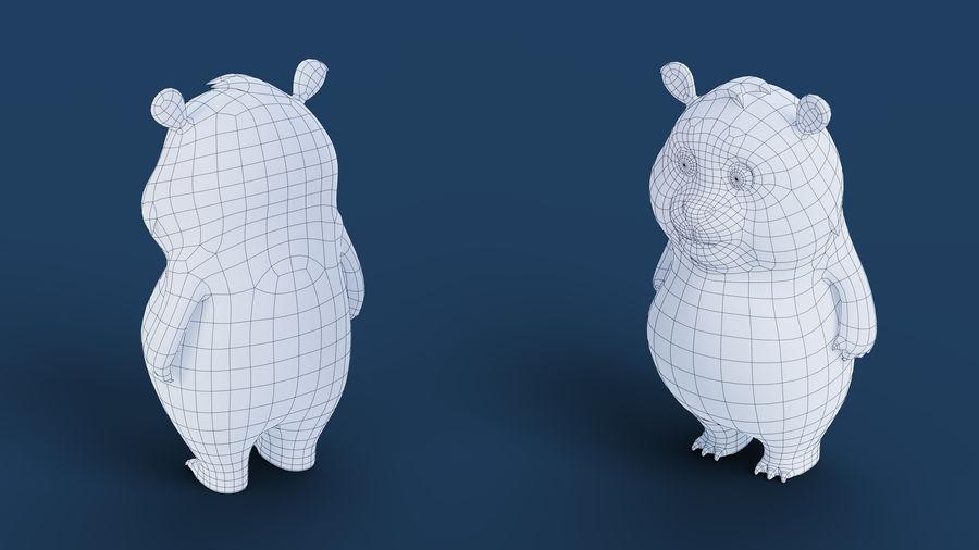 Low Poly Panda royalty-free 3d model - Preview no. 18
