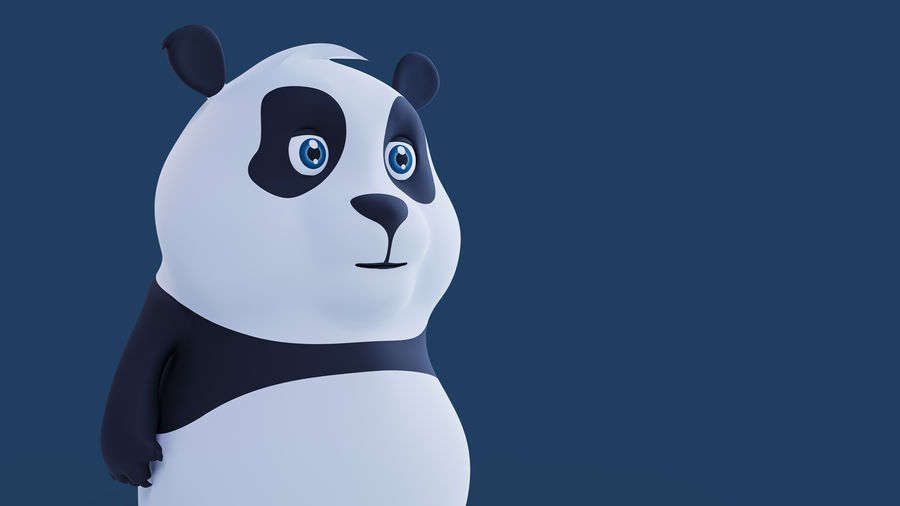 Low Poly Panda royalty-free 3d model - Preview no. 10