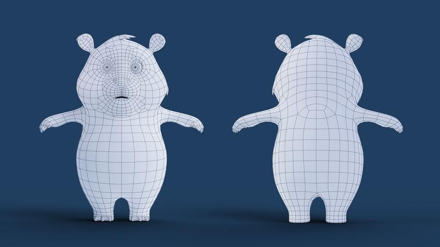 Low Poly Panda royalty-free 3d model - Preview no. 12