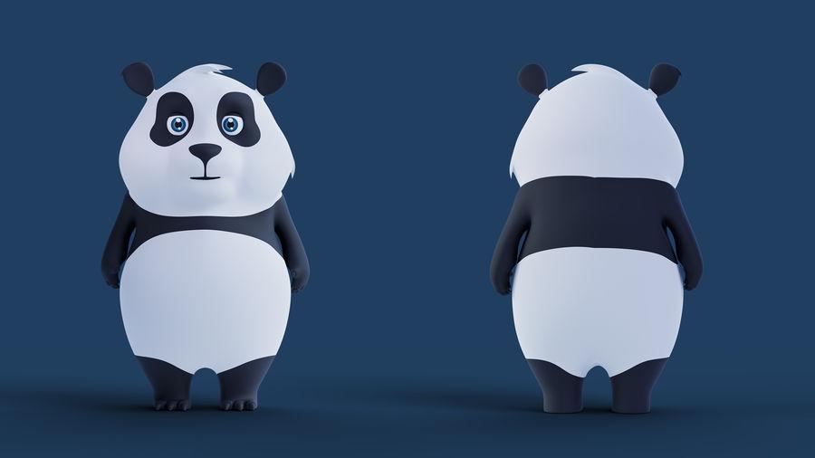 Low Poly Panda royalty-free 3d model - Preview no. 6