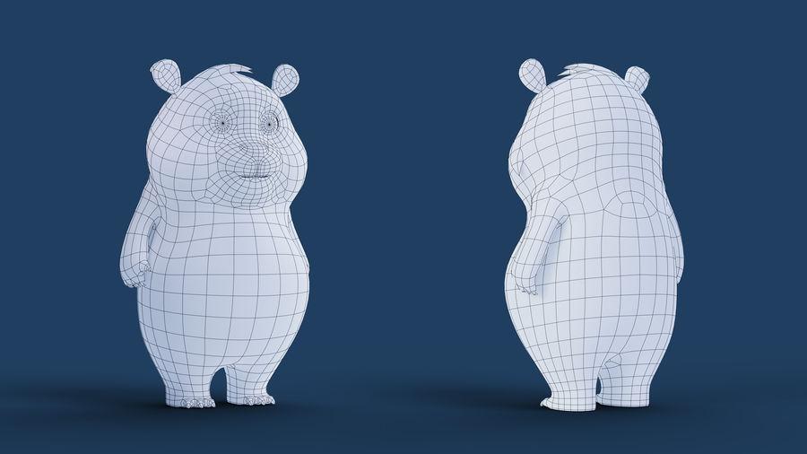 Low Poly Panda royalty-free 3d model - Preview no. 15