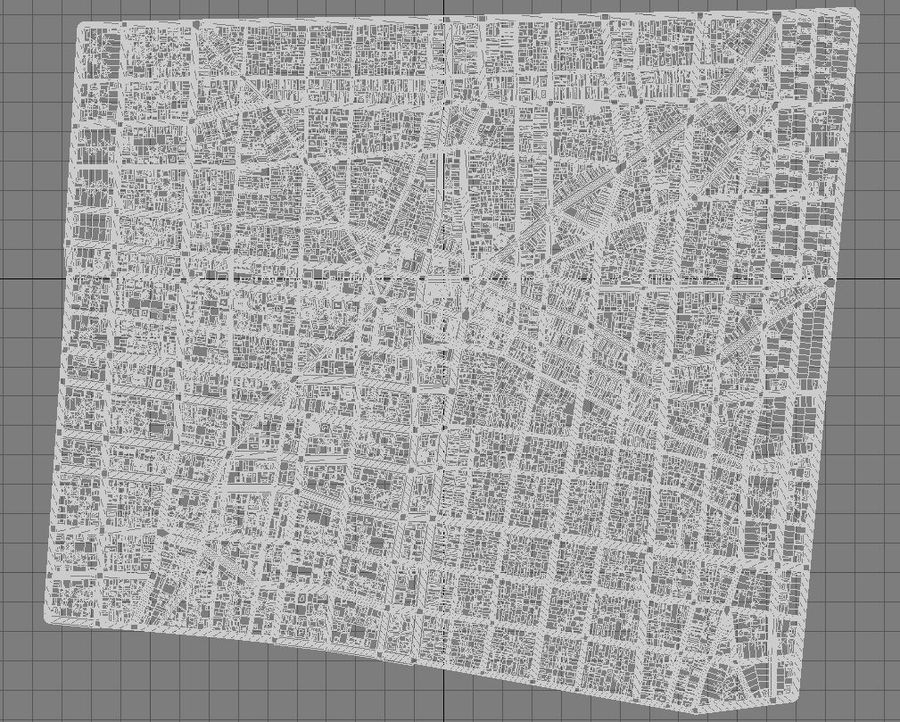 Huge City royalty-free 3d model - Preview no. 15