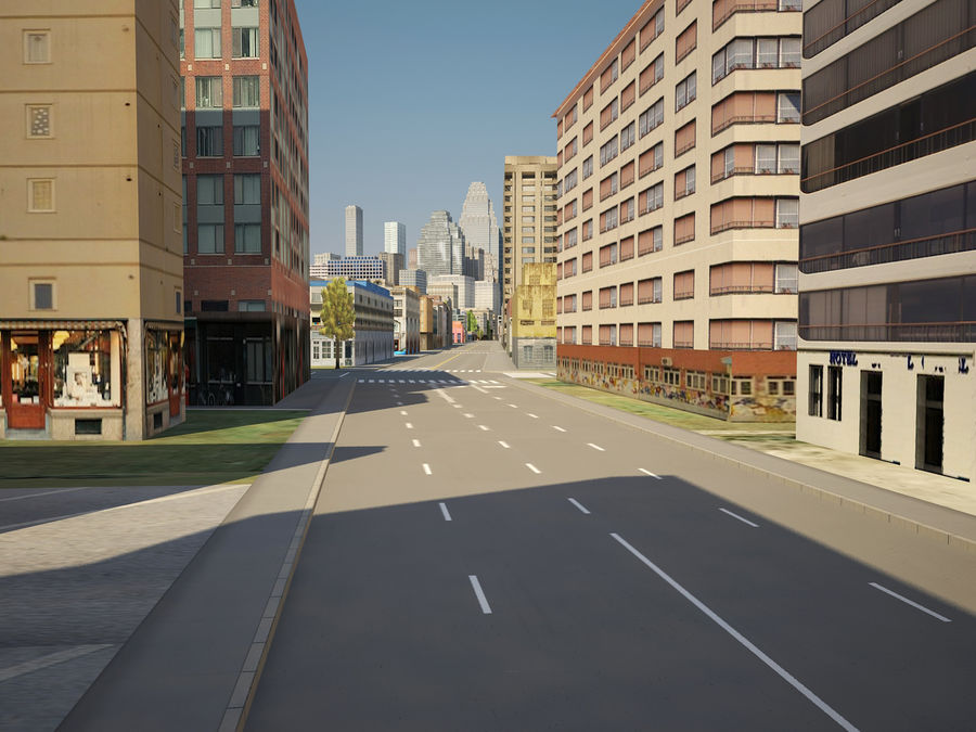 Huge City royalty-free 3d model - Preview no. 9