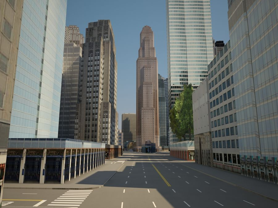 Huge City royalty-free 3d model - Preview no. 12
