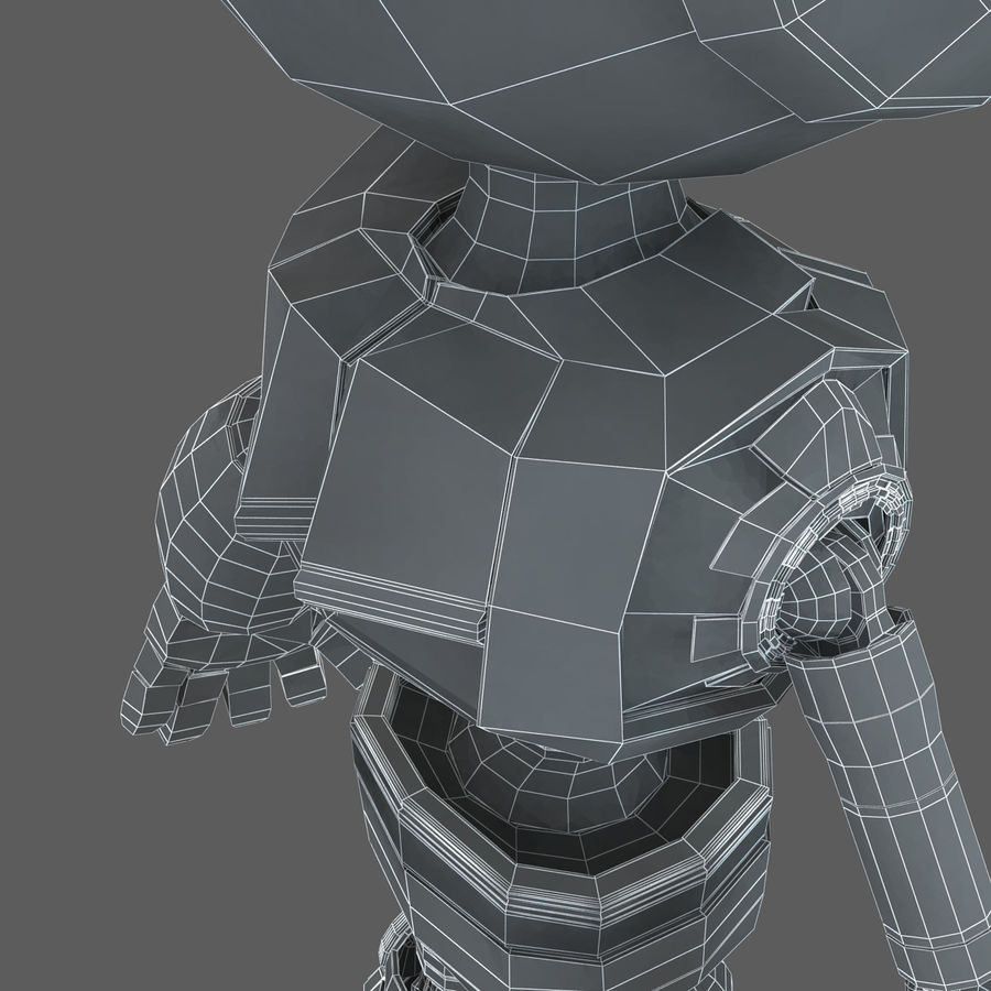 Robot Humanoide character royalty-free 3d model - Preview no. 22