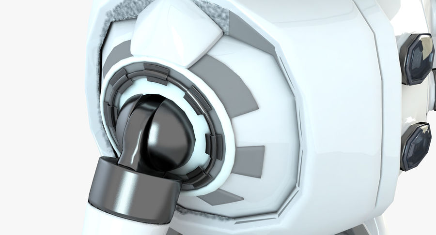 Robot Humanoide karakter royalty-free 3d model - Preview no. 6