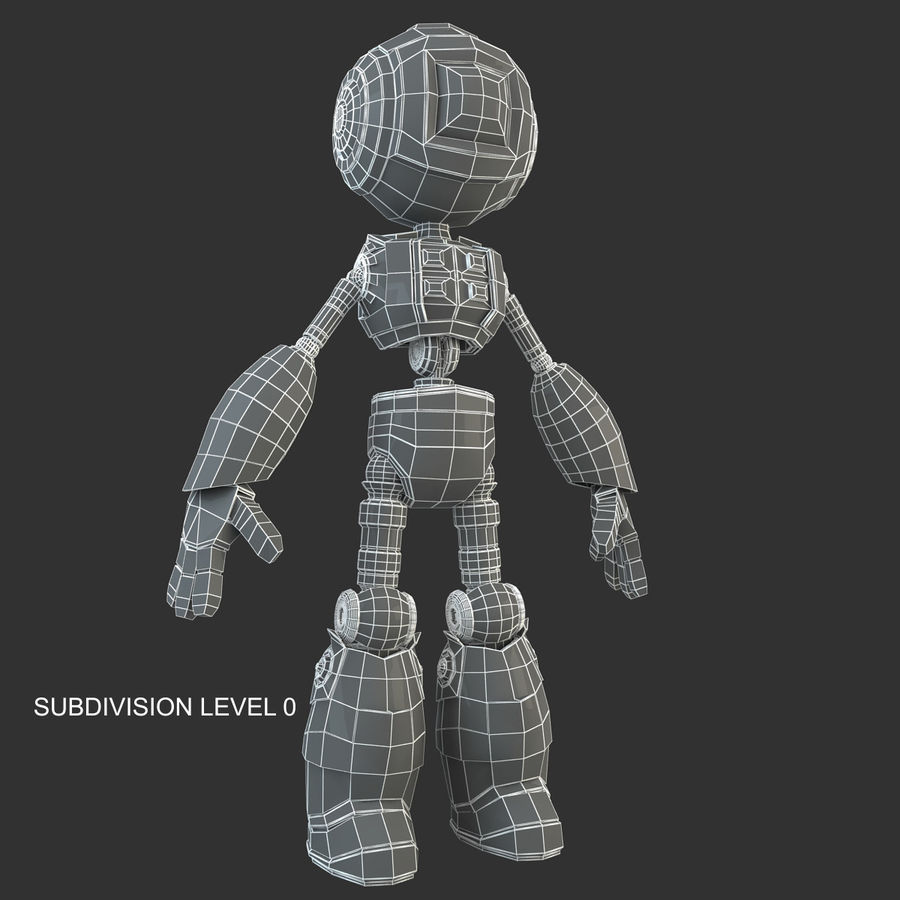 Robot Humanoide character royalty-free 3d model - Preview no. 14