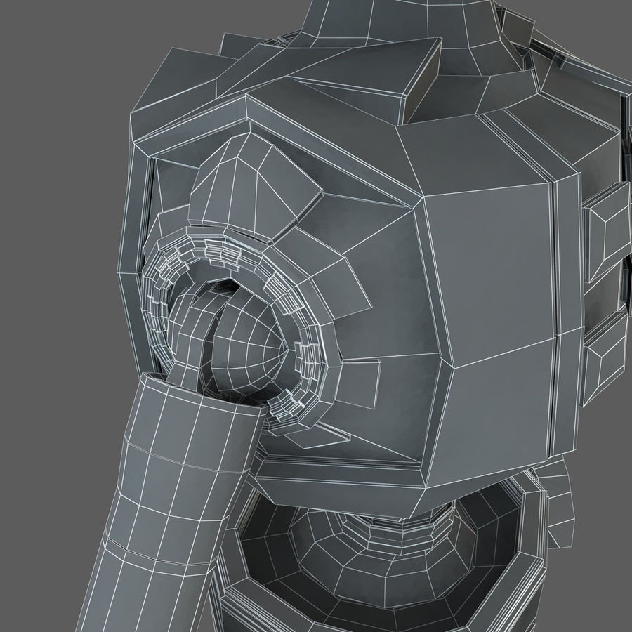 Robot Humanoide character royalty-free 3d model - Preview no. 21