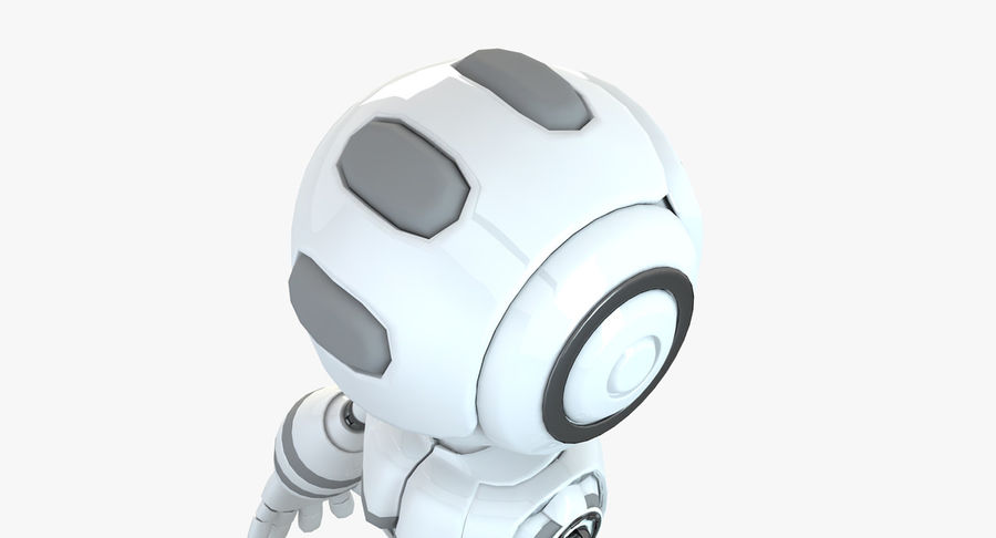 Robot Humanoide character royalty-free 3d model - Preview no. 4