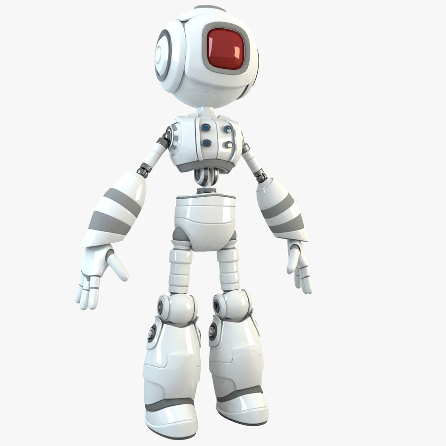 Robot Humanoide character royalty-free 3d model - Preview no. 1