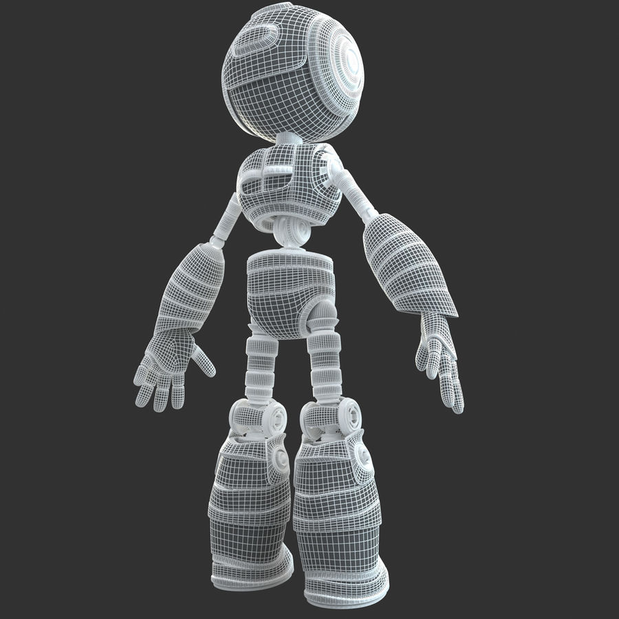 Robot Humanoide character royalty-free 3d model - Preview no. 15