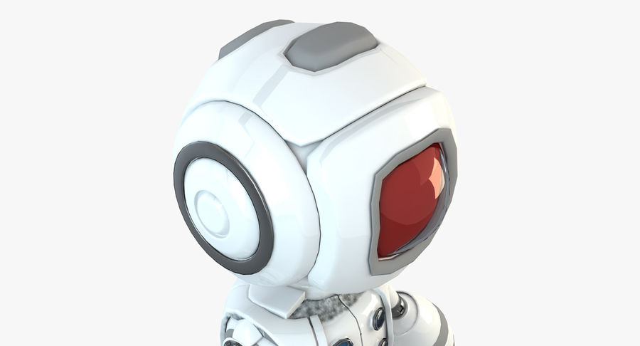 Robot Humanoide character royalty-free 3d model - Preview no. 3