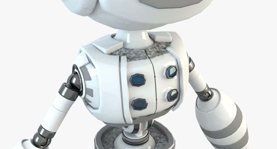 Robot Humanoide character royalty-free 3d model - Preview no. 5