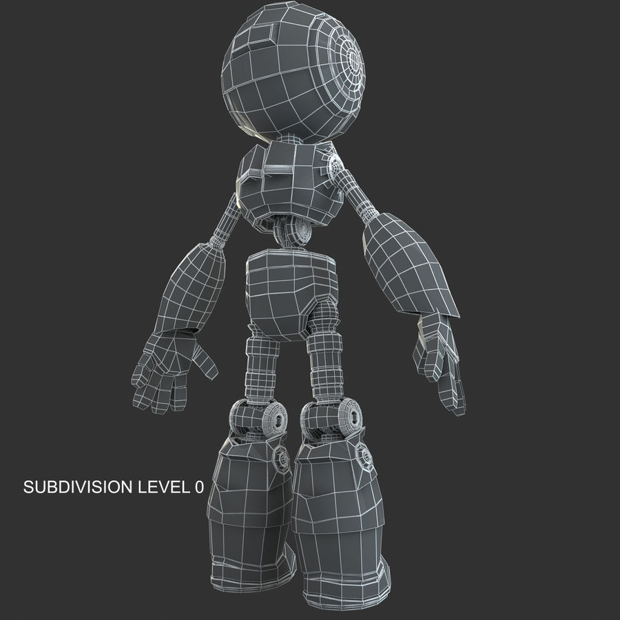 Robot Humanoide karakter royalty-free 3d model - Preview no. 13