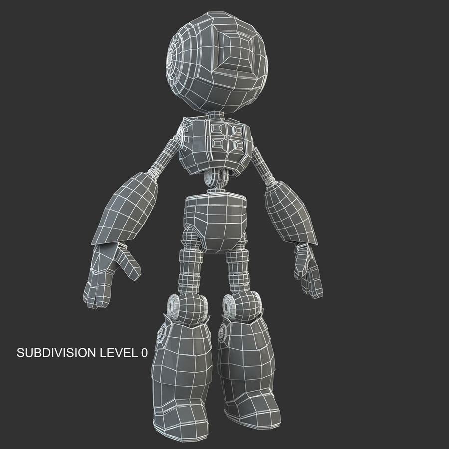 Robot Humanoide karakter royalty-free 3d model - Preview no. 14