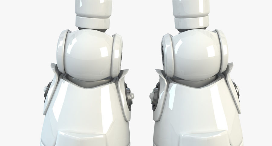 Robot Humanoide character royalty-free 3d model - Preview no. 9