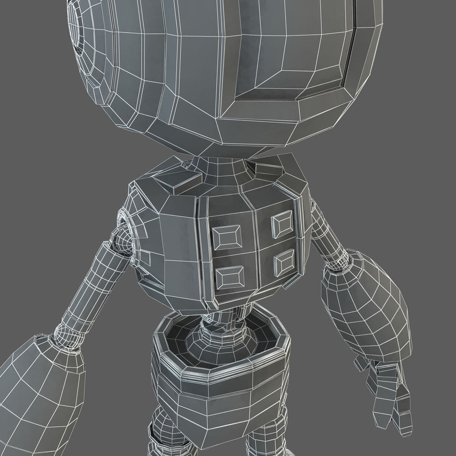Robot Humanoide character royalty-free 3d model - Preview no. 20