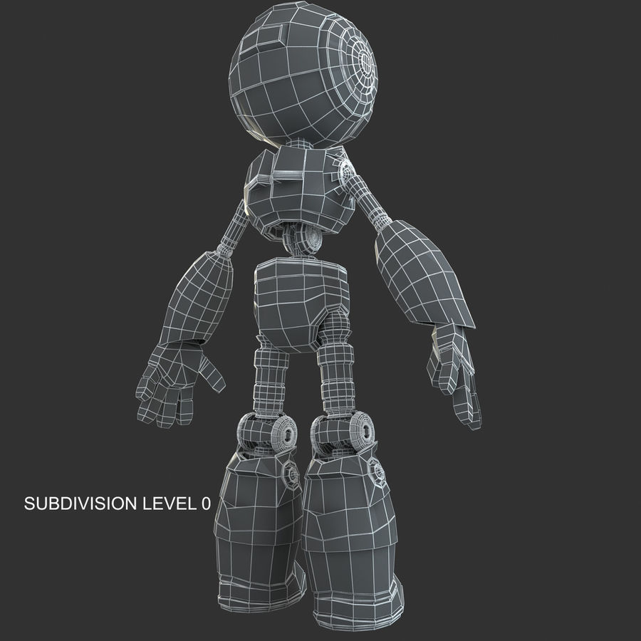 Robot Humanoide character royalty-free 3d model - Preview no. 13