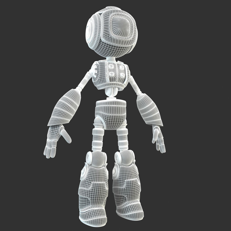 Robot Humanoide character royalty-free 3d model - Preview no. 16