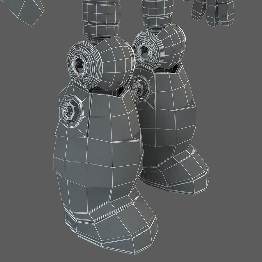 Robot Humanoide karakter royalty-free 3d model - Preview no. 26