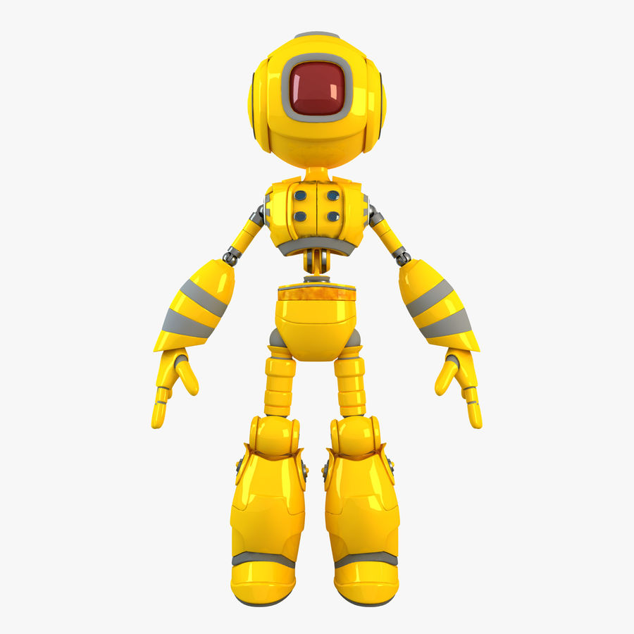 ロボットANDROID royalty-free 3d model - Preview no. 2
